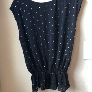 Kenneth Cole with metal dots blouse size 4